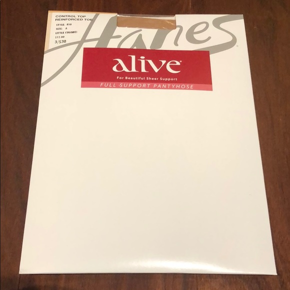 New Hanes Alive pantyhose